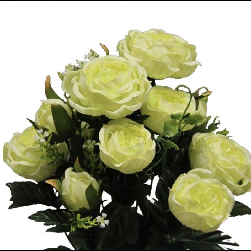 Piquet de Renoncule Artificiel Colette Vert Pastel