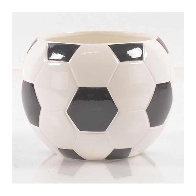 Cache pot Rond Ballon de Football ø16.5 x H12cm 18pièces